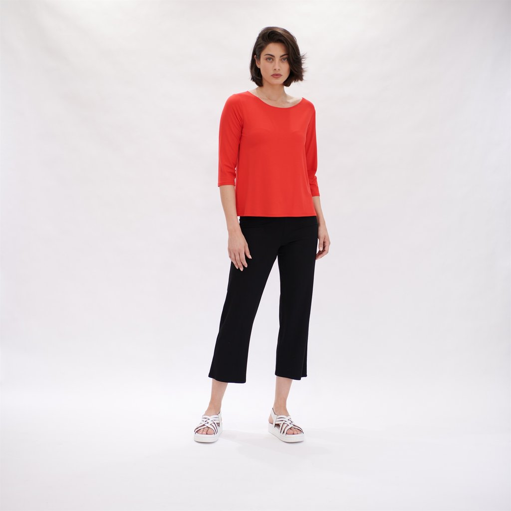 F01 2630 RELAXED BOAT NECK FLAME 1